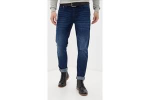Мужские зауженные джинсы slim, h&m. размер w36 l32