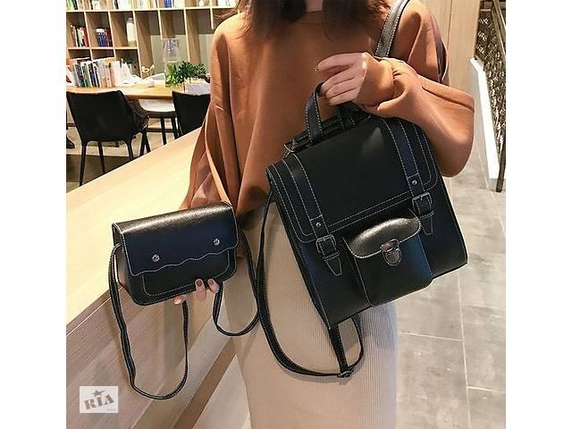 продам Женский городской рюкзак + мини сумочка клатч. Женский рюкзачок с сумочкой комплект набор. бу в Днепре (Днепропетровск)