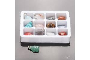 """Набор кулонов из 10 шт. натуральных камней """"Черепашки мудрости"""""""