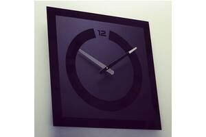 Настенные часы стеклянные 40 х 40 см Black (SPG-w-f)