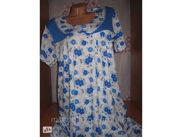 купить бу Ночная рубашка DOLLAR CLUB, 100% хлопок пр-во Узбекистан, размер 54-56, короткий рукав - 4 расцветки в Каменском (Днепродзержинск)