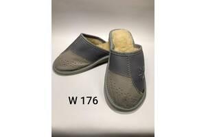 Новые женские и мужские кожаные тапочки