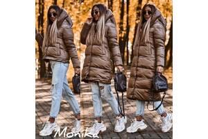 Оригинальная женская зимняя куртка трансформер на силиконе застегивается на молнию и кнопки С М Л