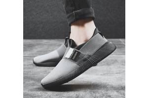 Оригинальные мужские легкие кроссовки мокасины, 40 - 44 Черный, 40