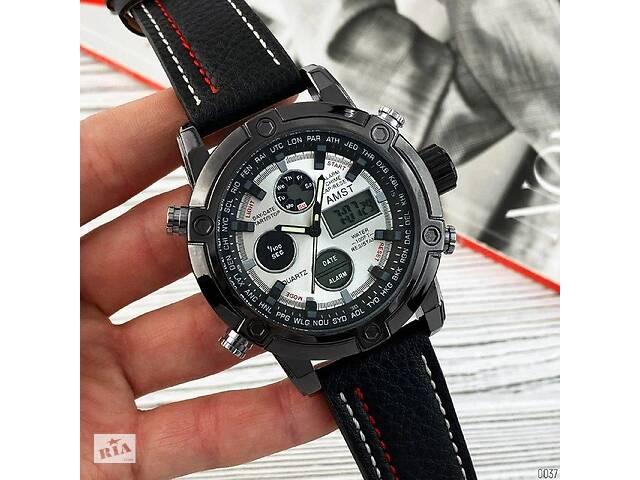 купить бу Оригинальные наручные мужские часы AMST 3022 Silver-Black-Silver Fluted Wristband в Киеве