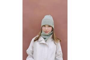 Осенне-весенний комплект шапка и снуд