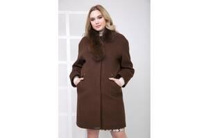Пальто Женское Sergio Cotti 1-095IT_Шоколадный 50