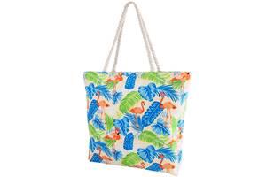 Пляжная сумка Valiria Fashion Женская пляжная тканевая сумка VALIRIA FASHION 3DETAL1812-8