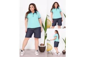 Повседневный женский костюм футболка и шорты SKL11-293799