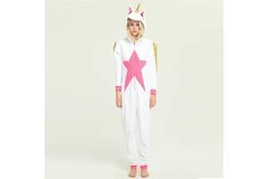 Пижама Кигуруми Единорог белый с крыльями M