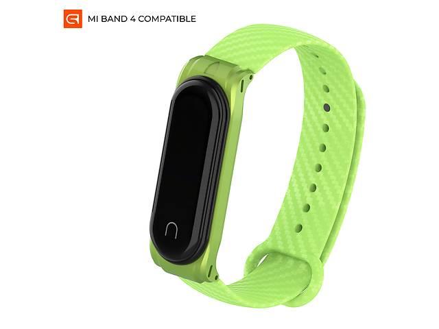 продам Ремешок Armorstandart Carbon Silicone Series для Xiaomi Mi Band 4/3 Green (ARM55021) бу в Киеве
