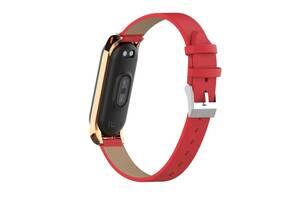 Ремешок кожаный XOKO для Mi Band 3/4 Red