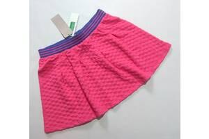 Розовая нежная юбка Benetton р. 10-11 лет