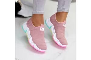 Розовые текстильные кроссовки, кроссовки Velocity 38-40р