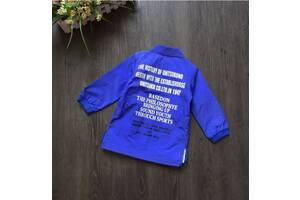 Рубашка детская синяя из полиестера