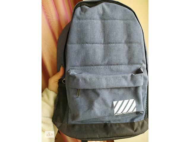 Рюкзак off-white серо-синий, чёрный распродажа