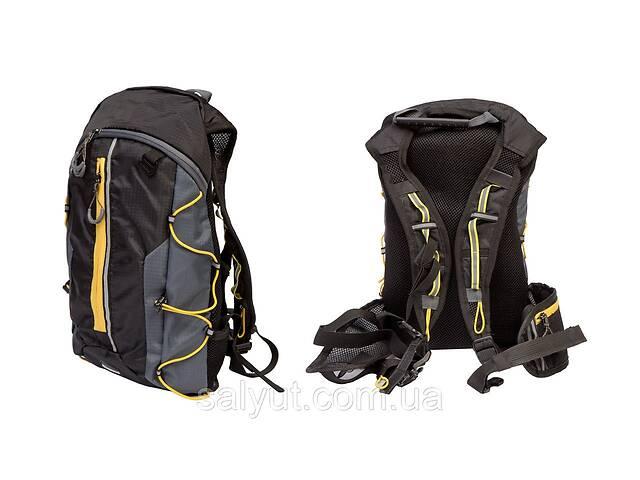 купить бу Рюкзак QIJIAN BAGS B-300 44х26х9cm черно-серо-желтый  в Украине