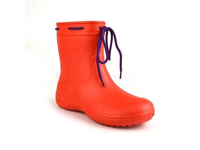 Сапоги женские резиновые EVA Jose Amorales с шнуровкой 36 р Красный (joa_119220_1)