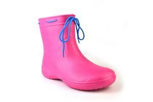 Чоботи жіночі гумові EVA Jose Amorales з шнурівкою 41 р Рожевий (joa_119250_1)