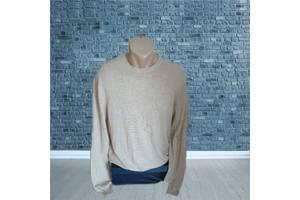 Сashmere 100% pure кашемир Стильный теплый мужской свитер бежевый L