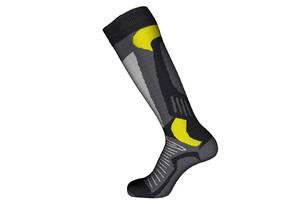 Шкарпетки лижні Emmitou 41-43 Black-Grey-Yellow - 187641