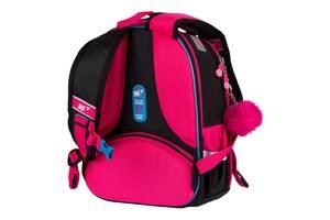 Шкільний рюкзак для дівчинки Барбі ортопедичний для 1-4 класу YES Barbie малиновий (558785) (H-100)