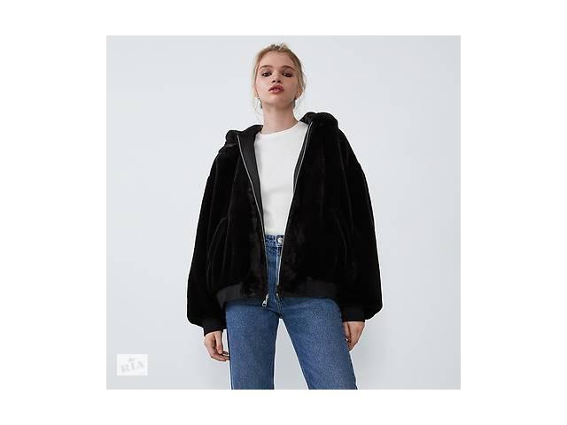 купить бу Шикарная женская  двухсторонняя меховая куртка бомбер Zara  (М), новая  в наличии в Николаеве