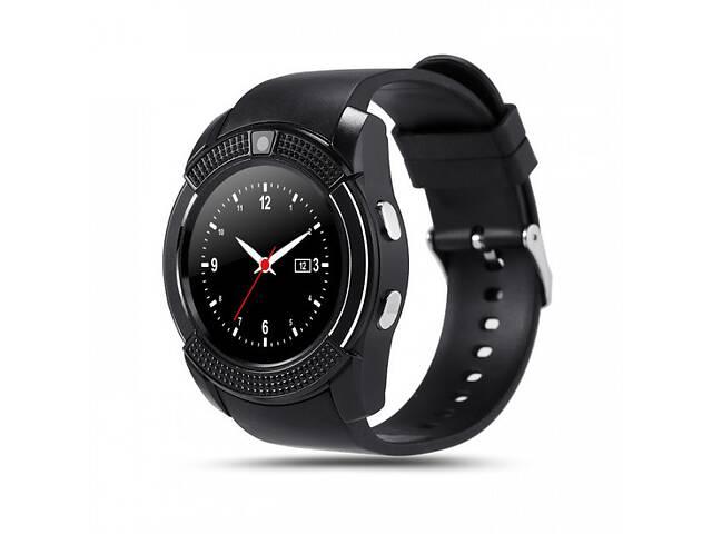 купить бу Смарт часы Smart Watch Baby V8 с шагомером Black (sw011-hbr) в Киеве