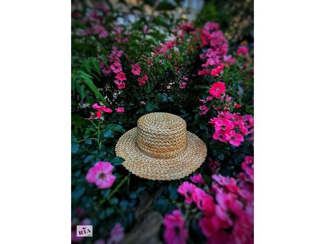 купить бу Солом& rsquo; яний капелюх канотьє в Черкасах