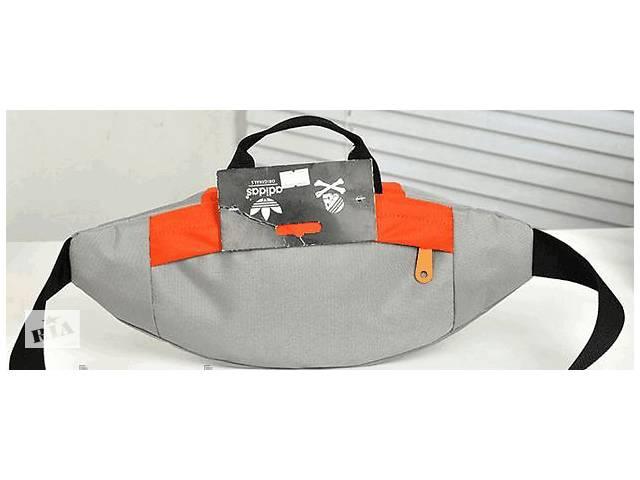 бу Спортивная сумка Adidas Originals 180, на пояс, копия, фиолетовая в Киеве