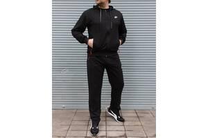 Спортивный мужской костюм Nike чёрный Батал