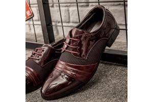 Стильные мужские лакированные туфли, 42-46 коричневый, 43