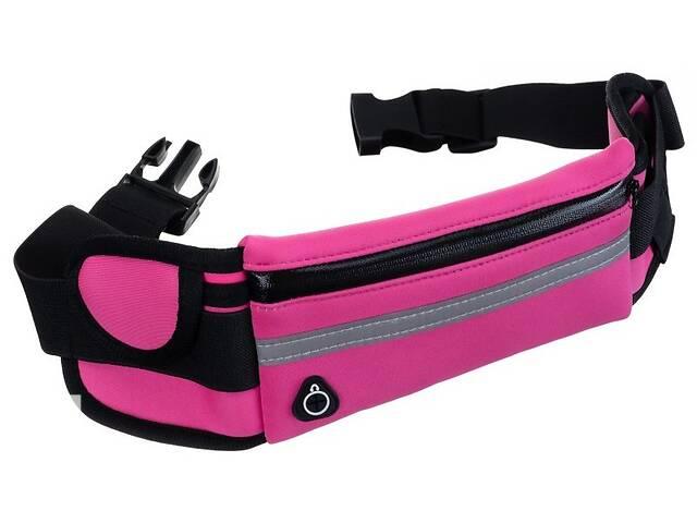 купить бу Сумка на пояс для бега, фитнеса Wbsport розовая в Киеве