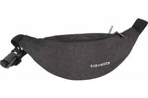 Сумка на пояс Travelite tl096233 01, тканевая, черная