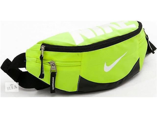 купить бу Сумка поясная, реплика Nike Team Training 145, салатовая в Киеве