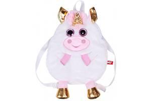 Сумка-рюкзак дитяча м'які Fancy 34 см& quot; Єдиноріг& quot ;, біла