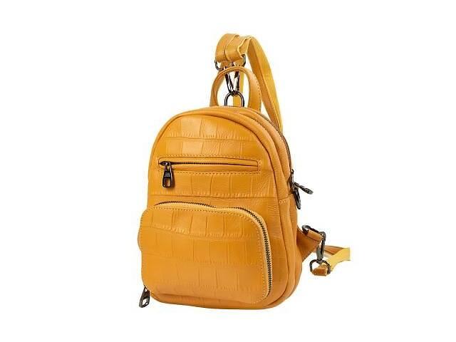 купить бу Сумка-рюкзак Vito Torelli Рюкзак женский кожаный VITO TORELLI VT-5005-yellow в Одессе
