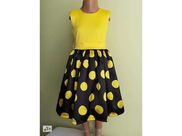 Праздничная детская желтое платье с бантом, модель № 50- объявление о продаже  в Хмельницком