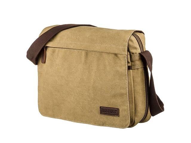 Текстильная сумка для ноутбука 13 дюймов через плечо Vintage  Хаки Vntg20188- объявление о продаже  в Киеве