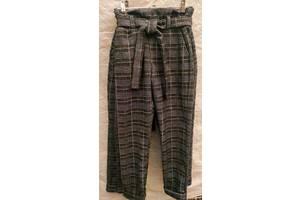 Теплі стрейчеві штани в клітку для дівчинки, ріст 128 - 146 см, 7 11 років