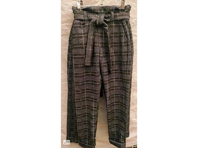 Теплые стрейчевые брюки в клетку для девочки, рост 128 - 146 см, 7- 11 лет- объявление о продаже  в Киеве