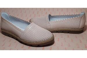 Туфли женские розовая кожа