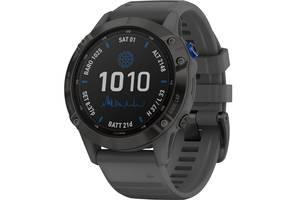 Умные часы Garmin Fenix 6 Pro Solar Edition Black with Slate Gray Band (010-02410-11)