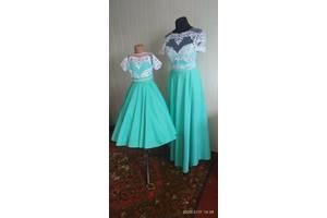Вечернее платье и детское, мама дочь в стиле family look