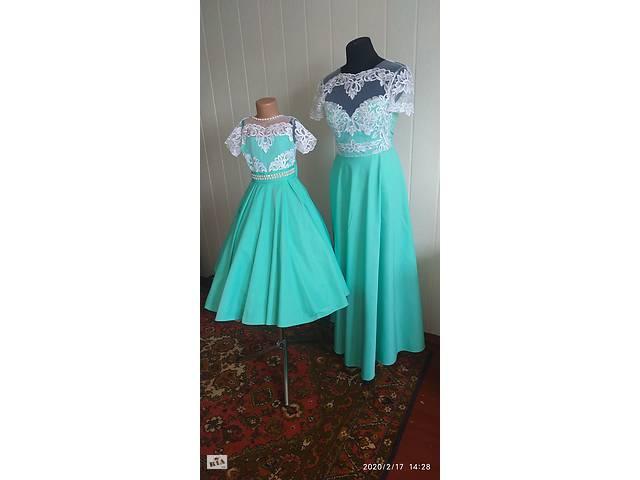 продам Вечернее платье и детское, мама дочь в стиле family look бу в Гайсине