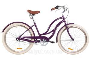 """Велосипед 26"""" Dorozhnik CRUISE 14G планет. Al с крылом St 2019 (фиолетовый)"""