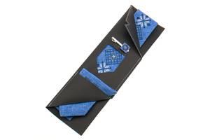 Вышитая галстук с платком и зажимом №864