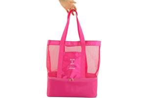 Яркая пляжная сумка Traum 7011-31, малиновая