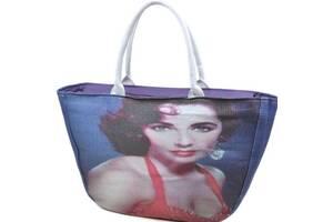 Замечательная  пляжная сумка Podium PC 9139-1 blue, синяя