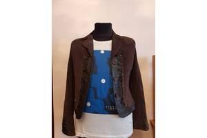 Замшевая куртка-пиджак р.48